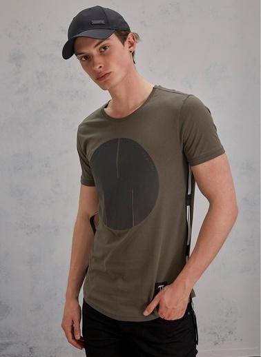 Pi π Baskılı Tişört Haki